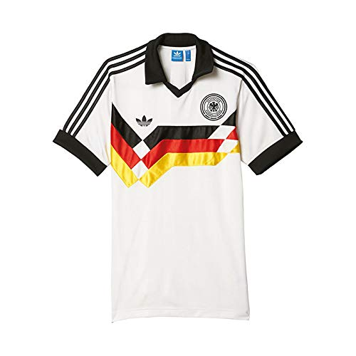 Adidas T-Shirt Men Germany Home JR AJ8021 Weiß, Größe:S -
