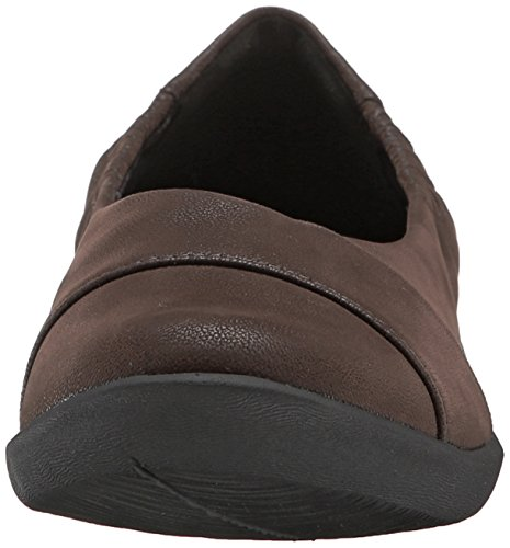 Clarks Cloudsteppers Sillian Intro Wohnung Dark Brown Synthetic Nubuck