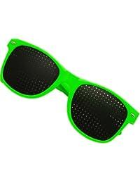 NERD® Lochbrille Rasterbrille Augentrainer Grün