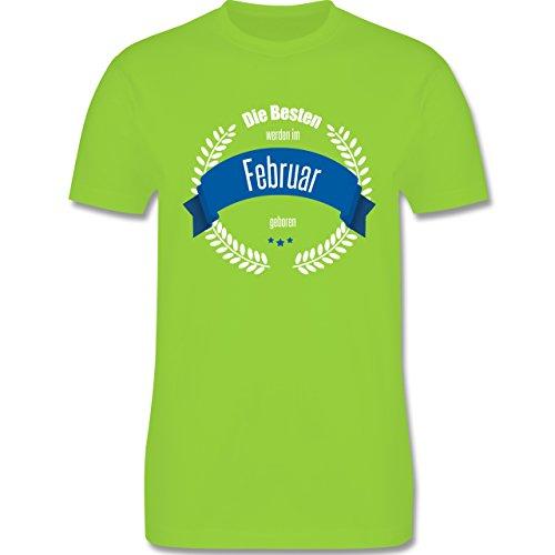 Geburtstag - Die Besten werden im Februar geboren - Herren Premium T-Shirt Hellgrün