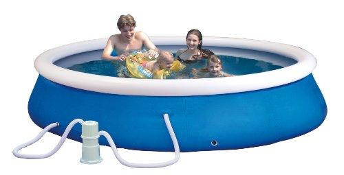Planschbecken-Set (Quick-Up-Pool) Durchmesser: 305cm, Höhe: 76cm inklusiv e einer Filter Pumpe AC230V/DC12 -