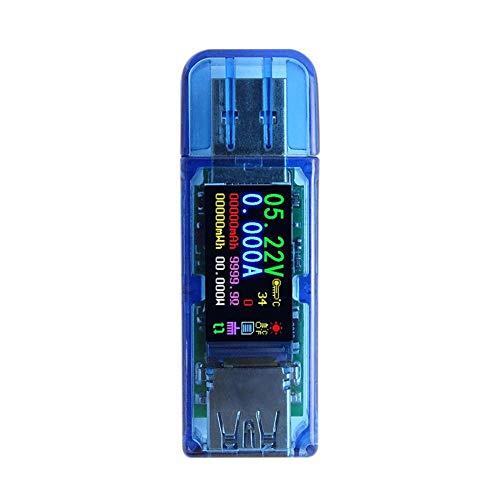Huang Dog-shop USB 3.0 Tester Multimeter 3.7-30V 0-4A USB Spannungsprüfer USB Digital Strom Und Spannung Tester Meter Voltmeter Amperemeter 1,44 Zoll Vollfarb LCD Display Tester AT34