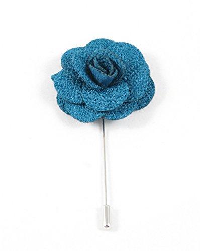 (Toffster Reversnadel Türkis Blume Premium Boutonniere : Handmade. Wertig. Besonders.)
