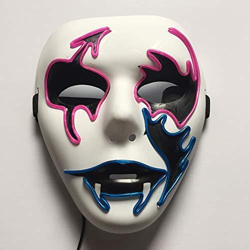 Daison Sicherheit Breathable LED-Maske, EL Kaltlicht, Sound Aktiviert, Halloween Maskerade Party Cosplay Kostüm, D,2