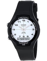 Casio AW90H-7B - Reloj para hombres, correa de plástico color negro