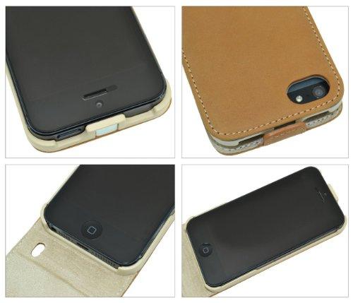 Apple iPhone 5/5S Coque/Étui à rabat style étui en cuir Étui * Cuir véritable * Étui (original Suncase®) (eie 19.90& # x20ac