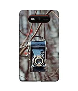PrintVisa Designer Back Case Cover for Nokia Lumia 820 (Camera hanging on steam of plant)