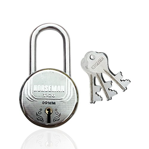 HORSEMAN Long Shackle 7 Levers Steel lock With 3 Keys...