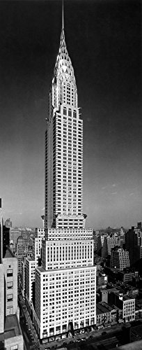 The Poster Corp Vintage Images - 1930s-1940s Tall Narrow Vertical View of Art Deco Style Chrysler Building Lexington Ave 42Nd Street Manhattan New York City Usa Kunstdruck (60,96 x 101,60 cm)