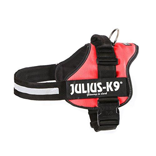 Trixie Julius-K9 Powerharness, Taglia 1, L, petto 66 - 85 cm, rosso