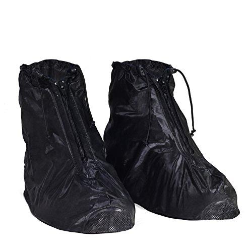 KEESIN Waschbare Saubere Schuhabdeckung Wasserdichte Regenüberschuhe Rutschfeste Regenstiefel Galoschen für Mann Frauen (XL(43-44):32cm)