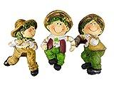 3er Set Topfhänger Kinder je 10 x 6 cm Herbst Bauern Kids Tier Figur Deko GODE C4