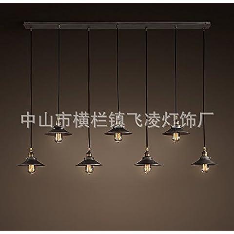KHSKX Candelabros de hierro forjado pequeño paraguas negro (sin luz) 7 long plates
