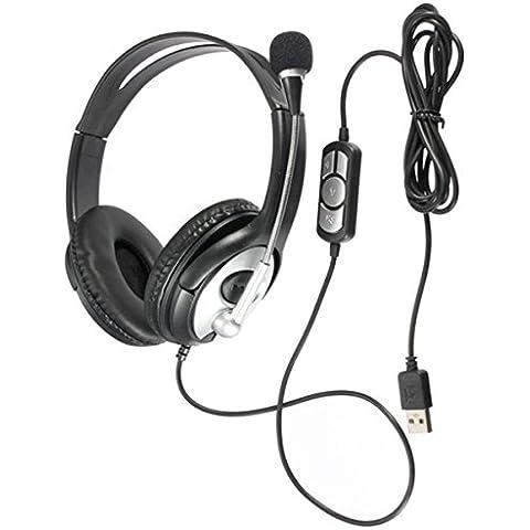 ELEGIANT Stereo USB Gaming Headset Cuffia Auricolare con Microfono per PC Laptop