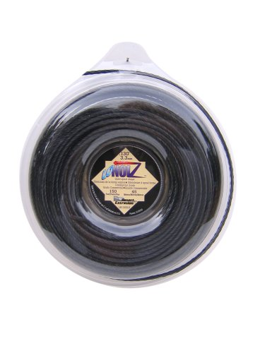 Commercial Grade Trimmer Line (LoNoiz .130-inch-by-150-foot Spule Commercial Grade Spirale Twist leise 454 g Grass Trimmer Line, schwarz ln130dlg-12)