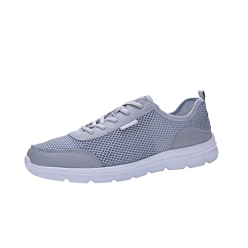 Btruely Sportschuhe Herren Turnschuhe Schnürung Laufschuhe Running Fitnessschuhe Sportschuhe Atmungsaktiv Outdoorschuhe Ultraleicht Sneakers Belüftung Jogging Schuhe Männer Couple Shoes