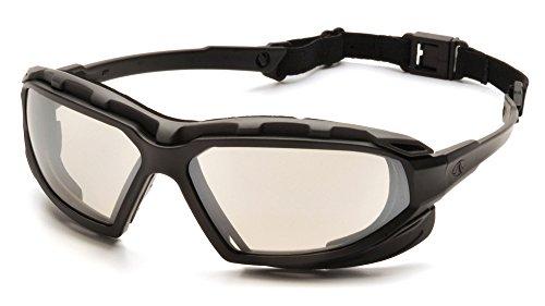 Pyramex Safety Highlander Plus Schwimmbrille, SBG5080DT, Black-Gray Frame/Indoor-Outdoor Mirror Anti-Fog Lens