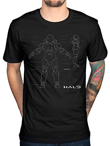 Official Halo 5 Anatomy T-Shirt Team Chief Guardians Video Game Xbox