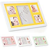 Kit de cadre photo moulage de pied et de main de bébé ® Babyboon | 4 COULEURS DANS UN PACK | Le souvenir idéal pour un cadeau de naissance ou de baptême