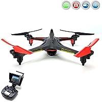 ALIEN 5.8GHz FPV PRO - 4.5 Kanal RC ferngesteuerter Quadcopter 3D Drohne mit Live-Kamera Monitor, 6-axis Gyro, Automatische Rückholfunktion, Headless, Komplett-Set inkl. HD Kamera-Set, FPV-Monitor, Akku, Ersatzteil-Set, RTF