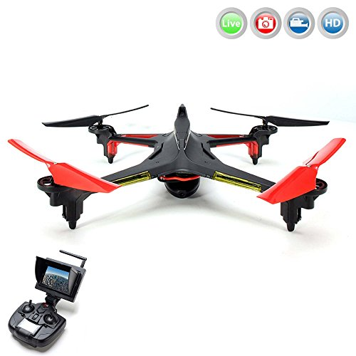 Preisvergleich Produktbild ALIEN 5.8GHz FPV PRO - 4.5 Kanal RC ferngesteuerter Quadcopter 3D Drohne mit Live-Kamera Monitor, 6-axis Gyro, Automatische Rückholfunktion, Headless, Komplett-Set inkl. HD Kamera-Set, FPV-Monitor, Akku, Ersatzteil-Set, RTF