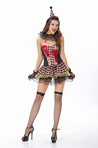 (Gorgeous Herren Kostüme Cosplay Halloween-Maskerade- clown costume play)