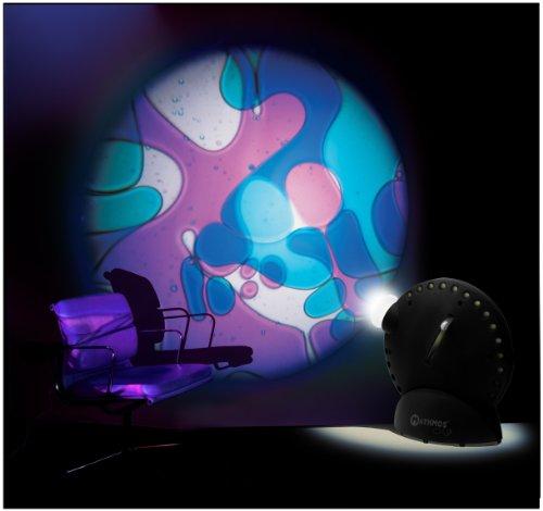 Mathmos Space Projektor in Schwarz mit Lavalampen Effekt Violett/Blau