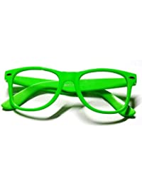 DIE ORIGINAL NERD® Club Brille 100% Original CLEAR (Neon Grün)