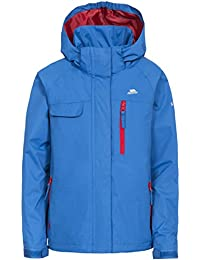Trespass Kids Vivir Waterproof Rain Jacket with Removable Hood