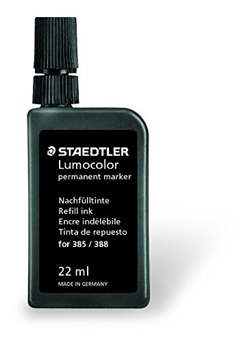Staedtler 485 23 Lumocolor tinte 22ml permanent marker für 385/388, schwarz