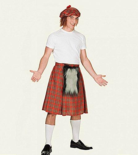 Schottenrock und Mütze Komplett-set Schottenkostüm Schotte Kilt