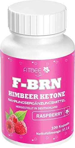 Fitbee - F-BRN Himbeer Ketone | Diät-Kapseln | So geht es Richtig, 100 Kapseln