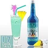 Swimming Pool 28% Vol. - PreMix für 17 alkoholische Cocktails - Flasche 0,7 l mit allen Zutaten - Einfach mit Ananassaft & Eis mixen, fertig