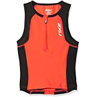 2x U Joven Active Youth Tri Singlet (Unisex) Camiseta, Verano, niño, Color dtr/Black, tamaño XL