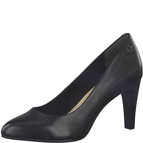 Tamaris Damen Pumps 22405-21,Frauen Pumps,elegant,feminin,festlich,Hochhackige Schuhe,Abendschuhe,Businessschuh,Trachten-Schuh,Trichterabsatz 8cm,Black Leather,EU 41