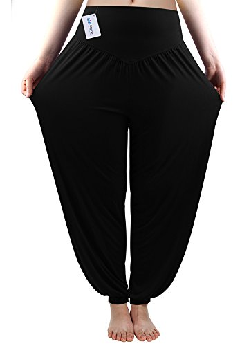 Fitglam soft yoga Pilates Harem Pants Hippie Bloomer donne Pant Lounge ghette lungo Baggy Trousers