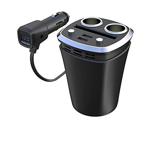 XLKP888 Auto-Ladegerät eins für Zwei mit USB-Zigarettenanzünder Multifunktions-Tasse Auto-Zigarettenanzünder,A Htc Dash