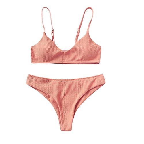 Donne sexy bikini set,swimsuit push-up reggiseno imbottito spiaggia halter set costumi da bagno costume,yumm donne costume piscina sportivi bikini donna beachwear due pezzi-festa della mamma (or, m)