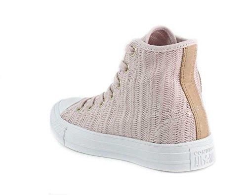 Damen CTAS Hi Barely Rose/Tan/White Hohe Sneaker, Beige (Barely Rose/Tan/White 653), 38 EU Converse