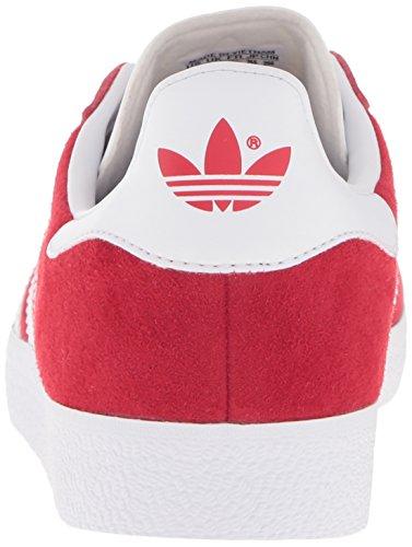 Adidas Mens Gazelle Suede Trainers scarle, ftwwht, goldmt