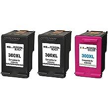 Ink seller 300XL 3 Pack Cartouches d encre Remplacement pour HP 300 XL  Compatibles pour HP a02d320a7fe1