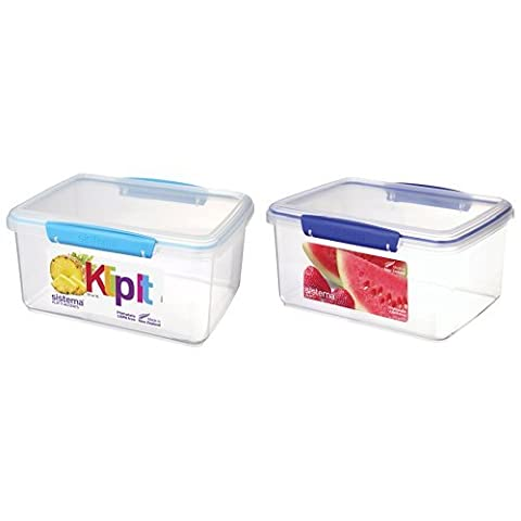 Sistema KLIP IT Food Storage Container, 3 L - Assorted Colours, Pack of 2