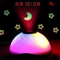 ddellk Wecker, Farbwechsel Digital LED Projektionsuhr mit Star Moon Night Light für Kinder preisvergleich bei billige-tabletten.eu