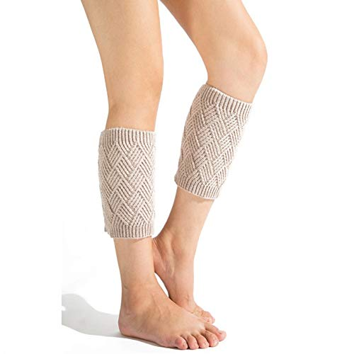 SUZNUO 3 Paar Herbst Winter Lady Kurze Beinlinge verdicken Thermisch gestrickte Crochet Cuffs Boot Yoga Socken Cover -