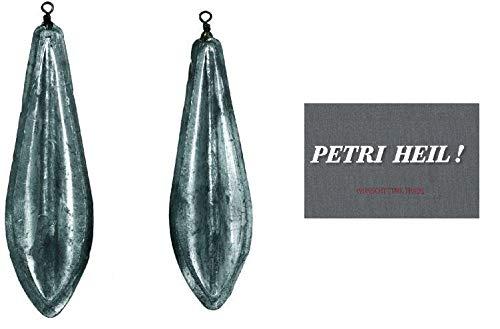 2 Stück Meeresblei Brandungsblei (2X 100 Gramm) + gratis Petri Heil! Aufkleber