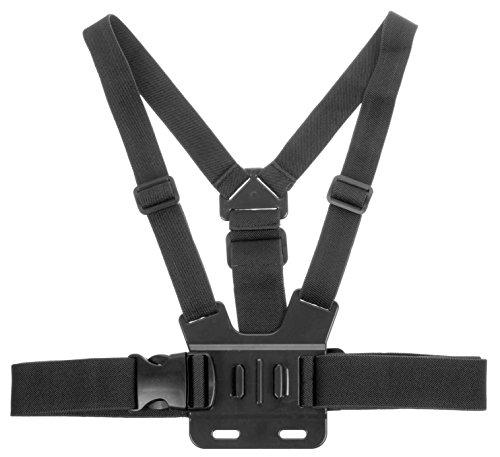 Kitvision Brustgurt-Halterung Verstellbare Chest Strap Mount Harness für Action Cameras Kompatibel mit vielen Actionkameras einschließlich GoPro Hero [3, 3+ oder 4] sowie Kitvision Edge/Splash/Escape HD5/HD5W/4K - Schwarz Chest Mount Harness