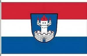 Königsbanner Hochformatflagge Neunburg vorm Wald - 150 x 500cm - Flagge und Fahne