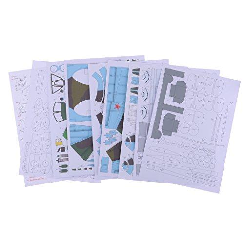D DOLITY 1:33 DIY 3D Papier Modell Bogen Kartonmodell Kampf Flugzeug Modellbau (Papier Modell Autos)