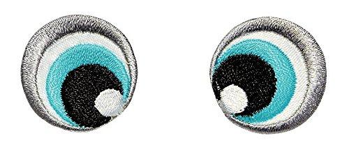 Prym Applikation Augen schwarz/weiß/blau