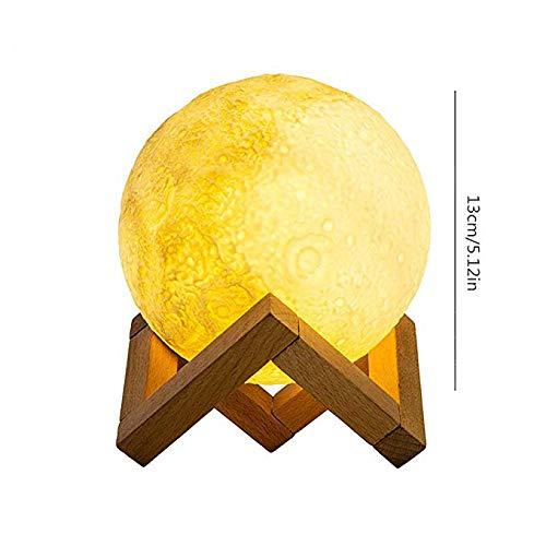 Bluetooth-Lautsprecher mit Lampe, Mondform Dekorative Mondlampe Kabelloser Lautsprecher Bluetooth 3-Modus Veränderbares Farb-Zeitmessgerät Einzigartiges dekoratives Tischlampen-Geschenk-Remotesensin (Eingeschlossen Auto Subwoofer)
